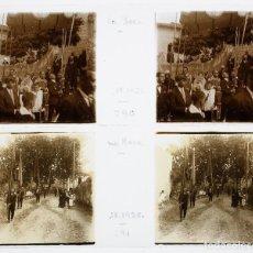 Fotografía antigua: LA ROCA DEL VALLÈS - SETIEMBRE 1926. 5 CRISTALES POSITIVOS ESTEREO 10X4 CM.. Lote 238889160