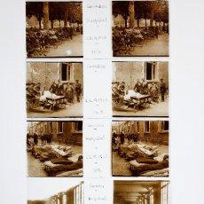 Fotografía antigua: LOURDES - HOSPITAL, ENFERMOS, 23-6-1925. 5 CRISTALES POSITIVOS ESTEREO 10X4 CM.. Lote 239429355