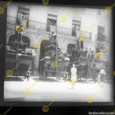 Fotografía antigua: PLACA ESTEREOSCÓPICA CRISTAL EN NEGATIVO PASOS CORPUS CHRISTI VALENCIA SOBRE 1930. Lote 246331975