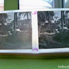 Fotografía antigua: ANTIGUA FOTOGRAFÍA ESTEREOSCÓPICA EN CRISTAL DE LOS JARDINES DEL ALCÁZAR DE SEVILLA. Lote 251177950