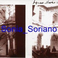 Fotografia antiga: AGUAS VIVAS, VALENCIA, PATIO MONASTERIO AÑO 1926 - FOTOGRAFIA ESTEREOSCOPICA, POSITIVO EN CRISTAL. Lote 251474340