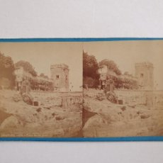 Fotografía antigua: GRANADA - TORRE DE LOS PICOS - J. LAURENT - ALBÚMINA SOBRE CARTÓN 17,7 X 8,7 CM. - LCC2. Lote 253008390