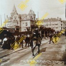 Fotografía antigua: PLACA ESTEREOSCÓPICA CRISTAL EN POSITIVO SAN SEBASTIÁN SOBRE 1910. Lote 255962695