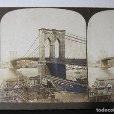 Fotografía antigua: 3 ESTEREOSCOPICAS CARTON. ESTADOS UNIDOS. SARATOGA WASHINGTON NUEVA YORK. Lote 261544340