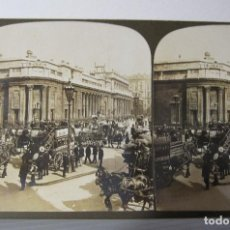 Fotografía antigua: 2 ESTEREOSCOPICAS CARTON. LONDRES. REGENT STREET,BANK OF ENGLAND / LONDON BRIDGE. Lote 261548750