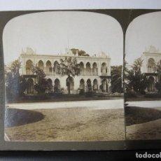 Fotografía antigua: 1 ESTEREOSCOPICA CARTON. ALGERIA SUMMER PALACE OF THE GOVERNOR GENERAL. Lote 261550675