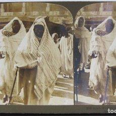 Fotografía antigua: 1 ESTEREOSCOPICA CARTON. TUNEZ: ARAB WOMEN IN STREET COSTUME, TUNIS. Lote 261551470