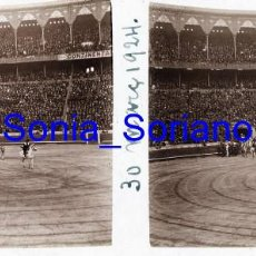 Fotografía antigua: VALENCIA. PLAZA DE TOROS MARZO 1924 - FOTOGRAFIA ESTEREOSCOPICA POSITIVO EN CRISTAL. Lote 261563000