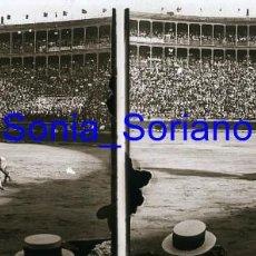 Fotografía antigua: VALENCIA. PLAZA DE TOROS , TORERO BELMONTE, AÑOS 20 - FOTOGRAFIA ESTEREOSCOPICA POSITIVO EN CRISTAL. Lote 261563245