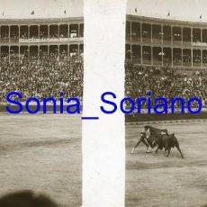 Fotografía antigua: VALENCIA. PLAZA DE TOROS AÑOS 20 - FOTOGRAFIA ESTEREOSCOPICA POSITIVO EN CRISTAL. Lote 261564365