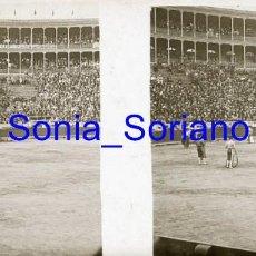Fotografía antigua: VALENCIA. PLAZA DE TOROS AÑOS 20 - FOTOGRAFIA ESTEREOSCOPICA POSITIVO EN CRISTAL. Lote 261564430