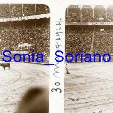 Fotografía antigua: VALENCIA. PLAZA DE TOROS MARZO 1924 - FOTOGRAFIA ESTEREOSCOPICA POSITIVO EN CRISTAL. Lote 261564525