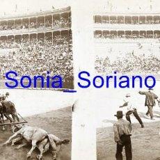 Fotografía antigua: VALENCIA. PLAZA DE TOROS AÑOS 20 - FOTOGRAFIA ESTEREOSCOPICA POSITIVO EN CRISTAL. Lote 261564680
