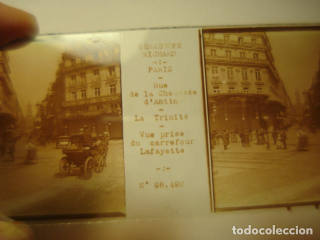 Fotografía antigua: FRANCIA PARIS CARREFOUR LAFAYETTE CRISTAL ESTEREOSCOPICO AÑOS 1900 -MIRA OTROS EN VENTA - Foto 2 - 261880840