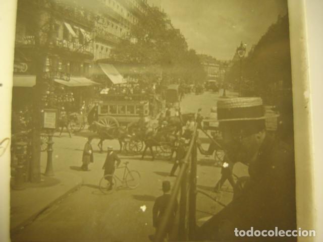 FRANCIA PARIS BOULEVARD MONTMARTRE CRISTAL ESTEREOSCOPICO AÑOS 1900 -MIRA OTROS EN VENTA (Fotografía Antigua - Estereoscópicas)