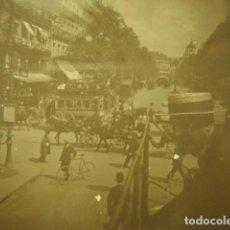 Fotografía antigua: FRANCIA PARIS BOULEVARD MONTMARTRE CRISTAL ESTEREOSCOPICO AÑOS 1900 -MIRA OTROS EN VENTA. Lote 261880860