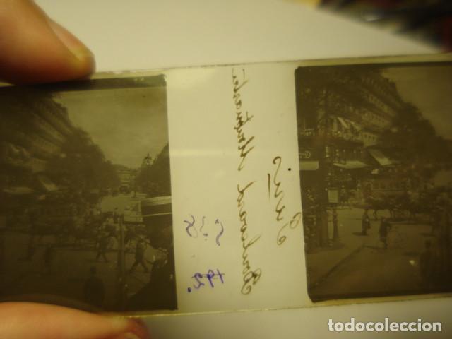 Fotografía antigua: FRANCIA PARIS BOULEVARD MONTMARTRE CRISTAL ESTEREOSCOPICO AÑOS 1900 -MIRA OTROS EN VENTA - Foto 2 - 261880860
