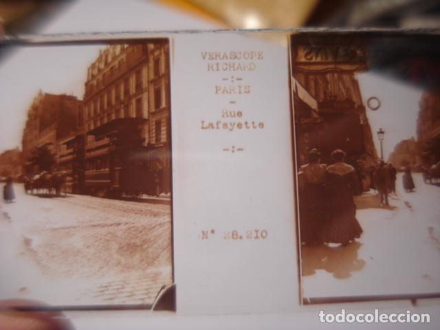 Fotografía antigua: FRANCIA PARIS RUE LAFAYETTE CRISTAL ESTEREOSCOPICO AÑOS 1900 -MIRA OTROS EN VENTA - Foto 2 - 261880915