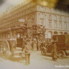 Fotografía antigua: FRANCIA PARIS TRANVIAS DE CABALLOS CRISTAL ESTEREOSCOPICO AÑOS 1900 -MIRA OTROS EN VENTA. Lote 261880940
