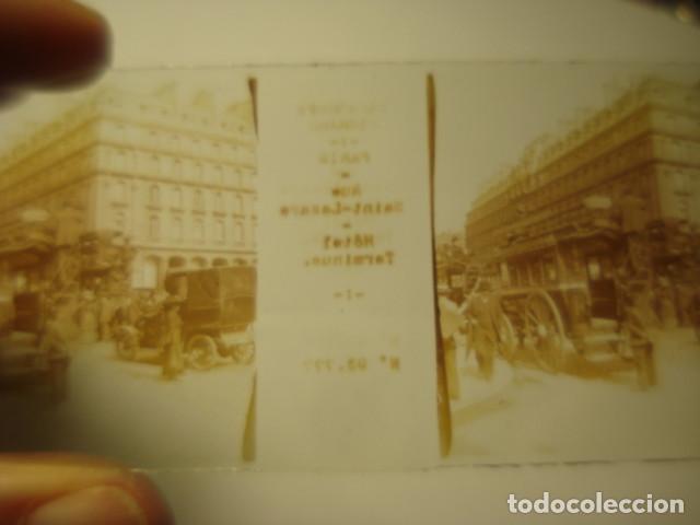 Fotografía antigua: FRANCIA PARIS TRANVIAS DE CABALLOS CRISTAL ESTEREOSCOPICO AÑOS 1900 -MIRA OTROS EN VENTA - Foto 2 - 261880940