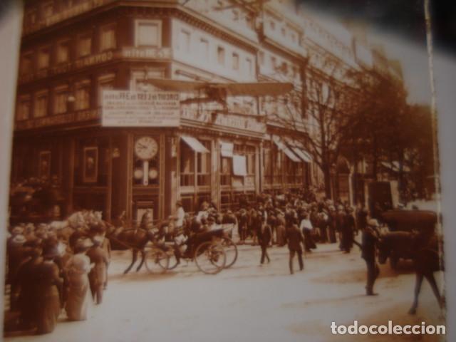 FRANCIA PARIS LE JOURNAL LE MATIN CRISTAL ESTEREOSCOPICO AÑOS 1900 -MIRA OTROS EN VENTA (Fotografía Antigua - Estereoscópicas)