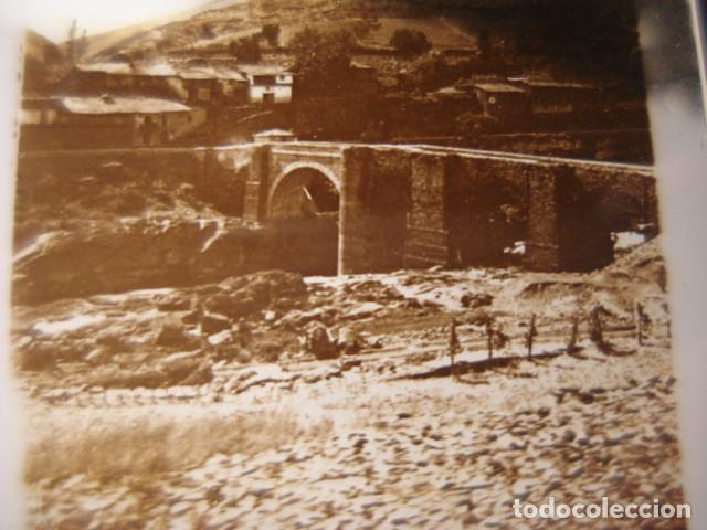 ASTURIAS PUENTE ROMANO CRISTAL ESTEREOSCOPICO AÑOS 1900 -MIRA OTROS EN VENTA (Fotografía Antigua - Estereoscópicas)