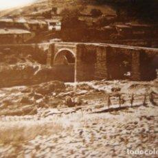 Fotografía antigua: ASTURIAS PUENTE ROMANO CRISTAL ESTEREOSCOPICO AÑOS 1900 -MIRA OTROS EN VENTA. Lote 261880960