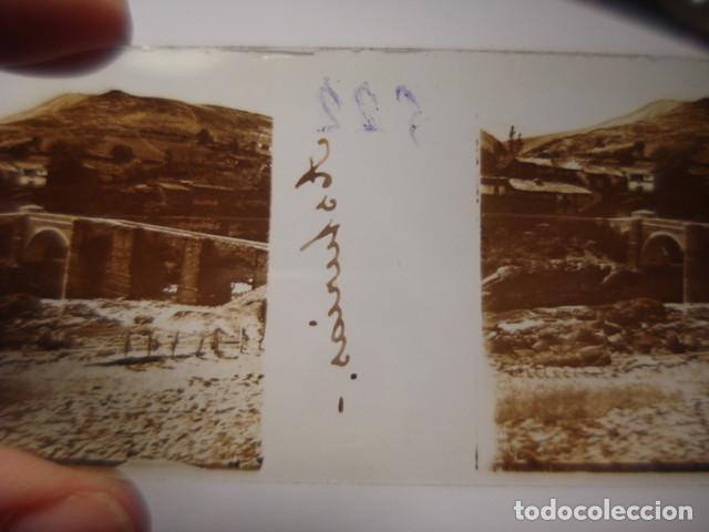 Fotografía antigua: ASTURIAS PUENTE ROMANO CRISTAL ESTEREOSCOPICO AÑOS 1900 -MIRA OTROS EN VENTA - Foto 2 - 261880960