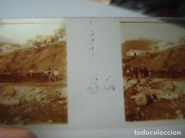 Fotografía antigua: MALAGA DERRIBO DE LA ALCAZABA CRISTAL ESTEREOSCOPICO AÑOS 1920 -MIRA OTROS EN VENTA - Foto 2 - 261880975