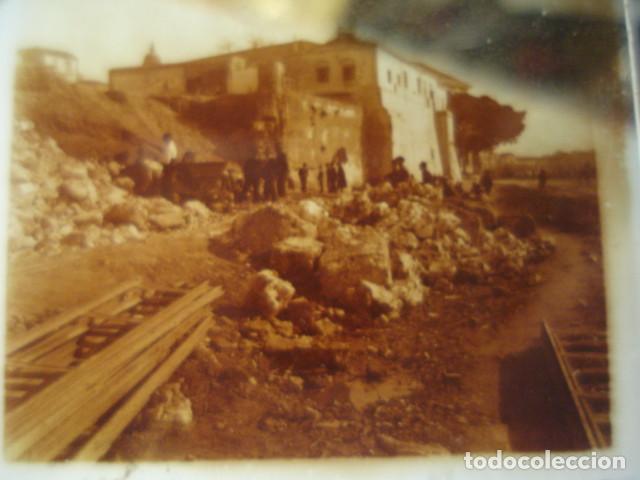 MALAGA DERRIBO DE LA ALCAZABA CRISTAL ESTEREOSCOPICO AÑOS 1920 -MIRA OTROS EN VENTA (Fotografía Antigua - Estereoscópicas)
