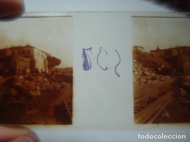 Fotografía antigua: MALAGA DERRIBO DE LA ALCAZABA CRISTAL ESTEREOSCOPICO AÑOS 1920 -MIRA OTROS EN VENTA - Foto 2 - 261880995