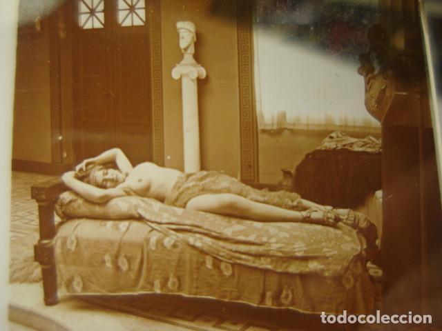 PRECIOSO DESNUDO FEMENINO EROTICA CRISTAL ESTEREOSCOPICO AÑOS 1900 -MIRA OTROS EN VENTA (Fotografía Antigua - Estereoscópicas)