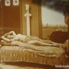Fotografía antigua: PRECIOSO DESNUDO FEMENINO EROTICA CRISTAL ESTEREOSCOPICO AÑOS 1900 -MIRA OTROS EN VENTA. Lote 261881035