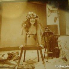 Fotografía antigua: PRECIOSO DESNUDO FEMENINO EROTICA CRISTAL ESTEREOSCOPICO AÑOS 1900 -MIRA OTROS EN VENTA. Lote 261881045