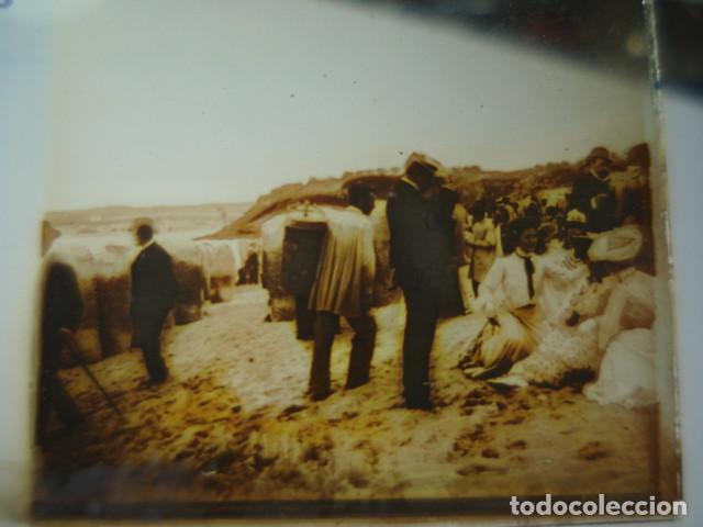 SANTANDER CANTABRIA GRUPOS DEL SARDINERO CRISTAL ESTEREOSCOPICO AÑOS 1900 -MIRA OTROS EN VENTA (Fotografía Antigua - Estereoscópicas)