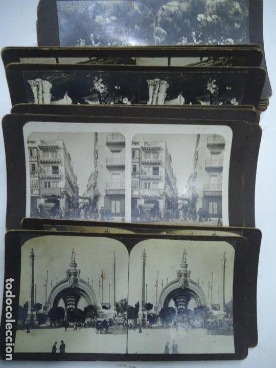 29 VISTAS ESTEREOSCOPICAS ORIGINALES DE 1900 SEVILLA, MÁLAGA, LONDRES, PARÍS, ETC. MAGNIFICO LOTE (Fotografía Antigua - Estereoscópicas)