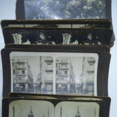 Fotografía antigua: 29 VISTAS ESTEREOSCOPICAS ORIGINALES DE 1900 SEVILLA, MÁLAGA, LONDRES, PARÍS, ETC. MAGNIFICO LOTE. Lote 261903695