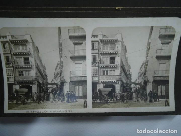 Fotografía antigua: 29 vistas ESTEREOSCOPICAS originales de 1900 Sevilla, Málaga, Londres, París, etc. MAGNIFICO LOTE - Foto 2 - 261903695