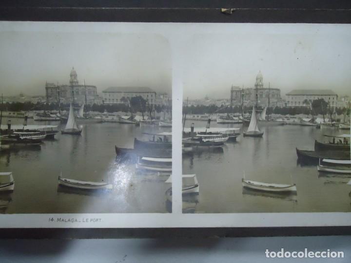 Fotografía antigua: 29 vistas ESTEREOSCOPICAS originales de 1900 Sevilla, Málaga, Londres, París, etc. MAGNIFICO LOTE - Foto 3 - 261903695