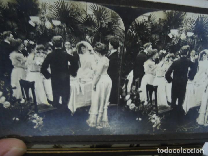 Fotografía antigua: 29 vistas ESTEREOSCOPICAS originales de 1900 Sevilla, Málaga, Londres, París, etc. MAGNIFICO LOTE - Foto 5 - 261903695