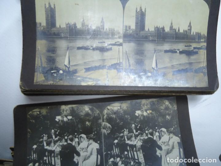 Fotografía antigua: 29 vistas ESTEREOSCOPICAS originales de 1900 Sevilla, Málaga, Londres, París, etc. MAGNIFICO LOTE - Foto 6 - 261903695