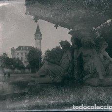 Fotografía antigua: VALENCIA VISTA DEL PALACIO RIPALDA NEGATIVO ESTEREOSCOPICO CELULOIDE 6 X 13 CM.. Lote 263104075