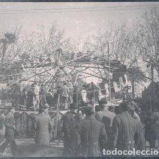 Fotografía antigua: VALENCIA ATRACCIONES DE LA FERIA NEGATIVO ESTEREOSCOPICO CELULOIDE 6 X 13 CM.. Lote 263104580