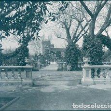 Fotografía antigua: VALENCIA JARDINES Y SAN PIO NEGATIVO ESTEREOSCOPICO CELULOIDE 6 X 13 CM.. Lote 263104880