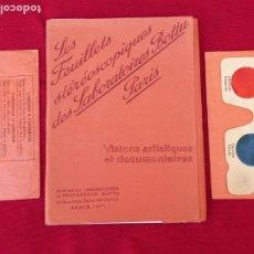 Fotografía antigua: LES FEUILLETS STEREOSCOPIQUES DES LABORATOIRES BOTTU - PARIS.. Lote 263628375