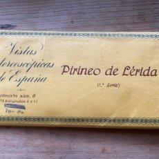 Photographie ancienne: 15 VISTAS ESTEREOSCÓPICAS PIRINEO DE LERIDA 3 SERIE NUM 75. Lote 265714569