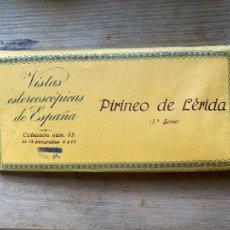 Photographie ancienne: 15 VISTAS ESTEREOSCÓPICAS PIRINEO DE LERIDA 4 SERIE NUM 6. Lote 265714919