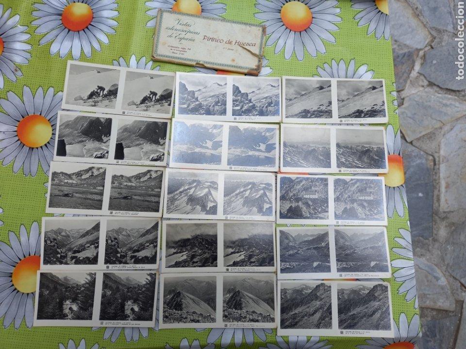 VISTAS ESTEREOSCOPICAS DE ESPAÑA PIRINEOS DE HUESCA (1SERIE) 15 FOTOS RELLEV EN BUEN ESTADO (Fotografía Antigua - Estereoscópicas)