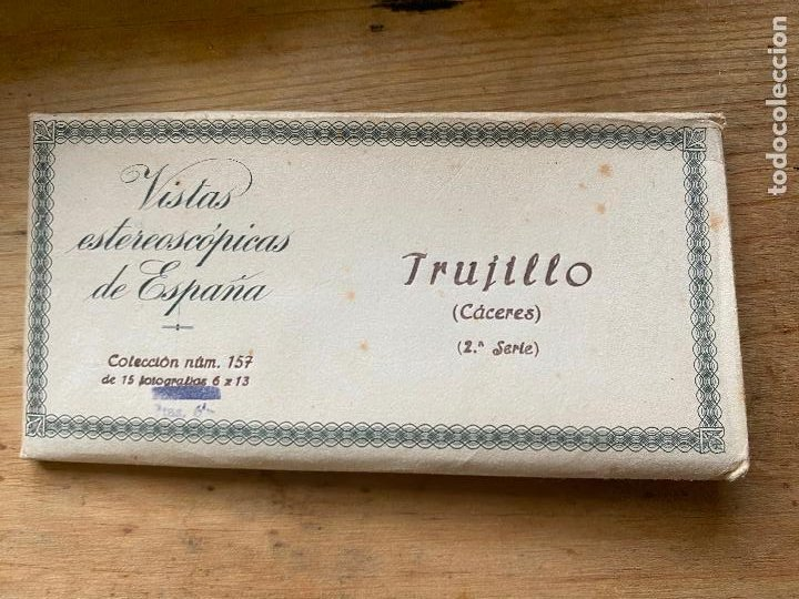 15 VISTAS ESTEREOSCÓPICAS ESPAÑA TRUJILLO 2 SERIE NUM 157 (Fotografía Antigua - Estereoscópicas)
