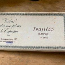 Fotografía antigua: 15 VISTAS ESTEREOSCÓPICAS ESPAÑA TRUJILLO 2 SERIE NUM 157. Lote 269243143